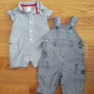 Carters woven rompers