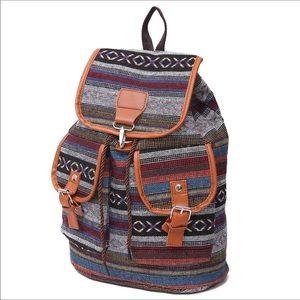 Handbags - Only 1 left! Unique Boho Tribal Aztec Rucksack