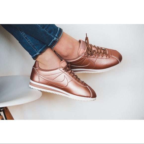 Nike Shoes - Nike Rosegold Cortez Sneakers