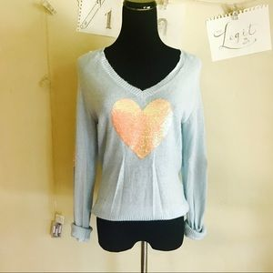 WILDFOX White Label Heart Sweater