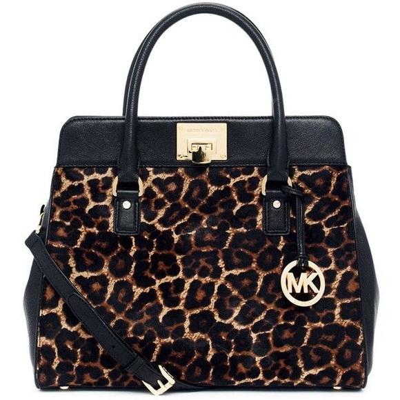 Michael Kors leopard print calf hair bag. M 597ce132d14d7b83aa07bfc8 6d679e6f4dd27