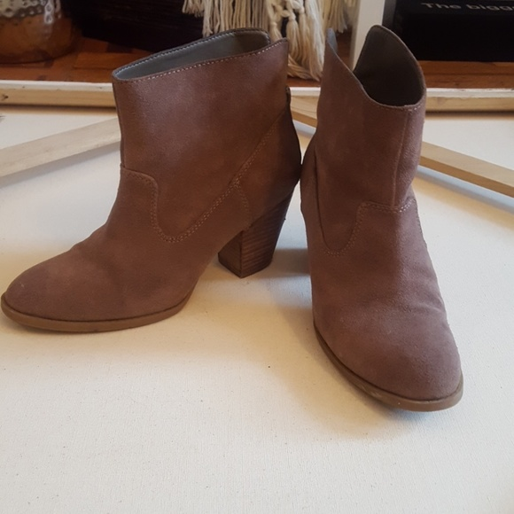Shoes | Taupe Suede Ankle Boots | Poshmark
