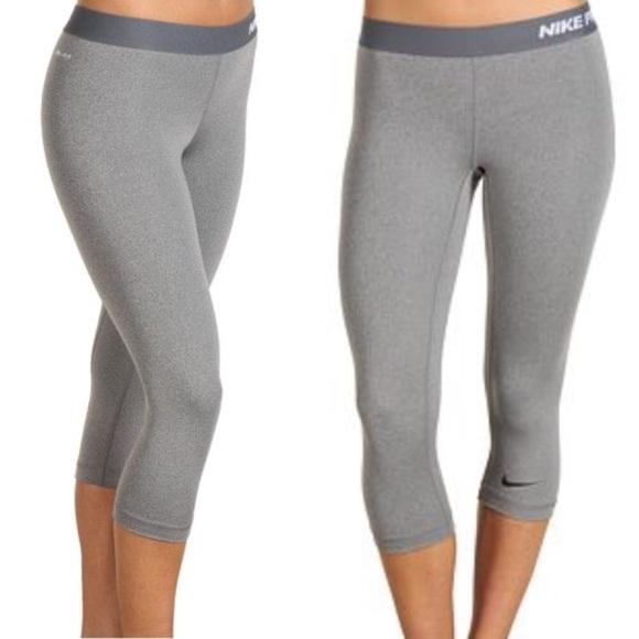 Running Nike Gray Pants Poshmark Procompression Capri Spandex rOfEO1x