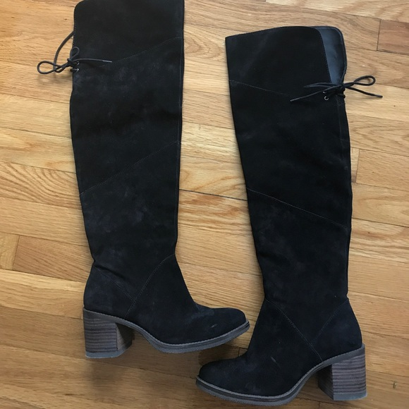 9004b0f0936 Lucky Brand Shoes - Lucky brand black suede over the knee boots