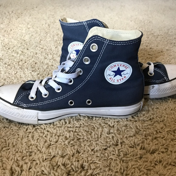 f2064565007 Converse Shoes - Converse High Tops Navy Blue Size 6