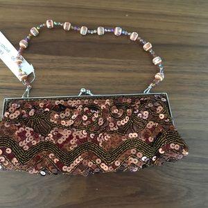 Handbags - NWT bronze evening bag