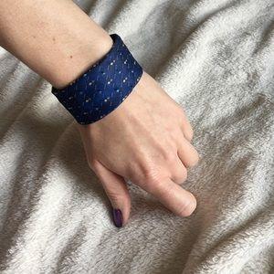 Jewelry - 📽SALE Repurposed Vintage Necktie Wrist Cuff