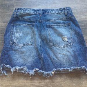 Forever 21 Skirts - Distressed denim skirt