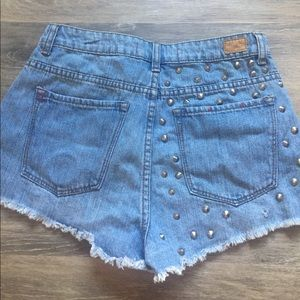 Urban Outfitters Shorts - Studded denim shorts
