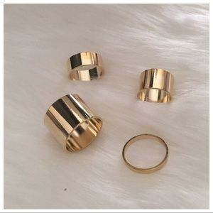 Jewelry - Gold midi rings