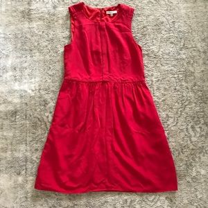 Red madewell dress