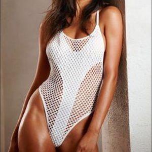 Victoria's Secret Swim - BLACK VS Fishnet Swimsuit
