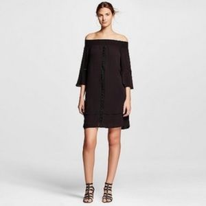 Mossimo black off the shoulder dress