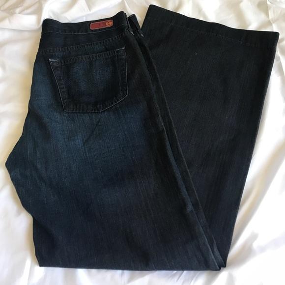 f529f5c14c8 Ag Adriano Goldschmied Denim - AG The Glisten Wide leg Jeans