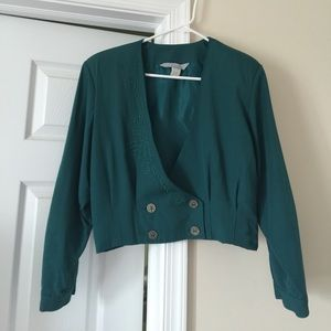 Vintage Cropped and Pleated Jacket or Blazer S M