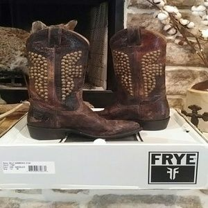 Frye Billy Hammered Stud Cowboy Boots