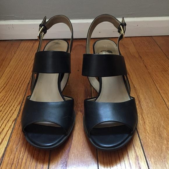 f2f43a3dcf2d Black Naturalizer N5 Comfort Heel Sandals sz 8.5 9.  M 597cffc3d14d7b39b9084d53