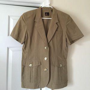 Liz Claiborne Long Button Down Jacket Blazer