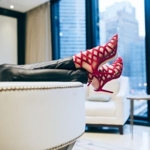 Akira magenta heeled sandal