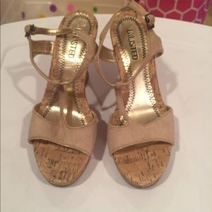 UNLISTED tan wedges
