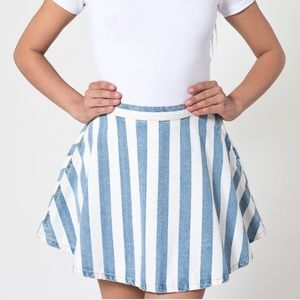 AA Striped Denim Skirt