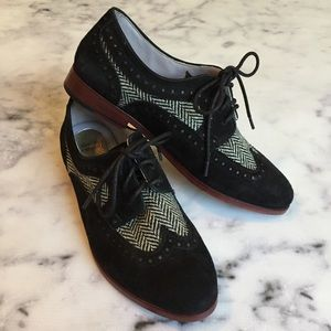 Johnston & Murphy Suede and Herringbone Oxfords