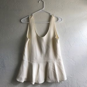 White Peplum Top from Anthropologie (NWT)