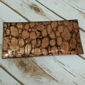 Handbags - Crocodile Print Checkbook Cover
