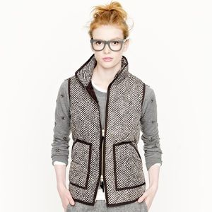 J. Crew Herringbone Excursion Vest