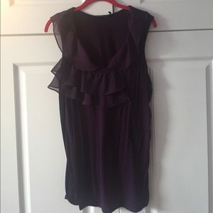 Purple Eloquii Plus Size Tank Top Size 14-16W