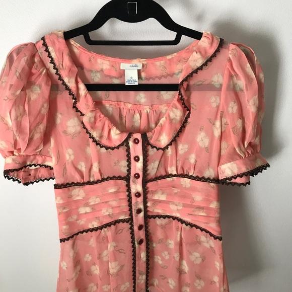 cdc34d3c254100 Anthropologie blouse. Vintage style. Size 0. M 597d17a7291a35d092089d28