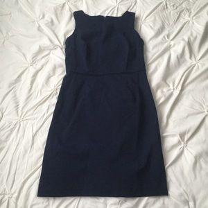 Tommy Hilfiger Navy Basic Sleeveless Midi Dress