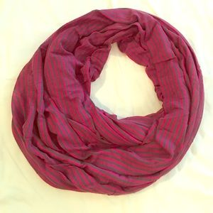 Gap Stripe Infinity Knit Scarf Pink/Gray