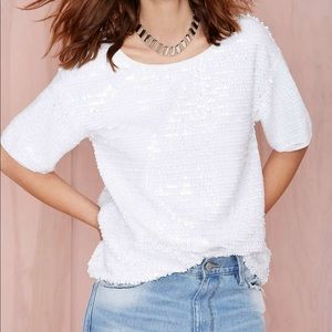 Nasty gal glaze over sequin tee by sugarlips