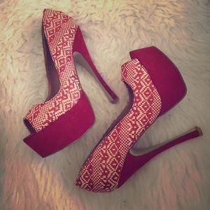 Red Shoedazzle heels