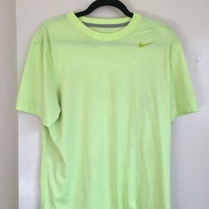 Mens Medium Neon Nike Dri-Fit Shirt