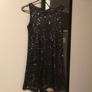 Black sequin h&m dress LBD