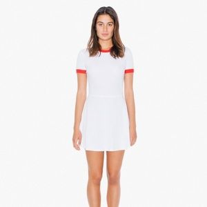 🇺🇸 American Apparel Red Ringer Dress L 🇺🇸