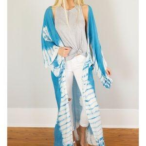 Jackets & Blazers - Tye Dye Kimono- Teal