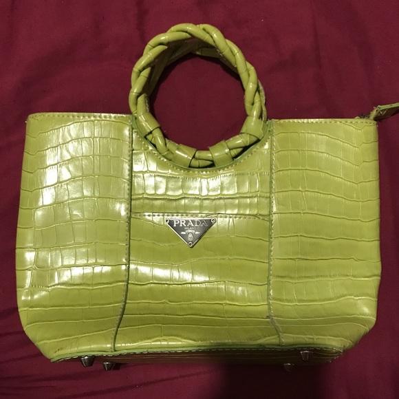 2409d66f6644 Lime Green Vintage Prada Handbag. M_597d562a4e95a32698097a02