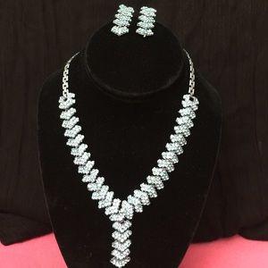 Jewelry - Baby Blue Studded Necklace. Indian/Pakistani.