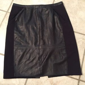 Leather Halogen pencil skirt with pockets, size 8P