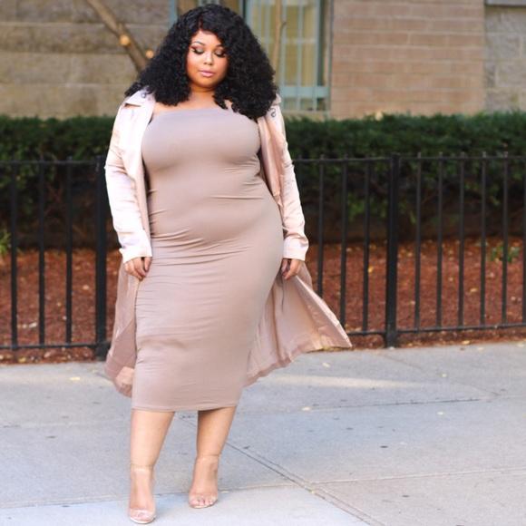 Dresses Plus Size Light Weight Nude Tube Dress Poshmark