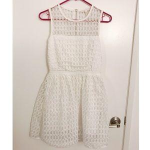Maje Mini Check Dress White