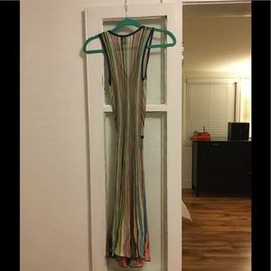 Missoni Dresses - Missoni Vertical Stripe Colorful Wrap Dress S