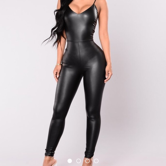 Fashion Nova Pants Faux Leather Plus Size Jumpsuit Hp Size Poshmark