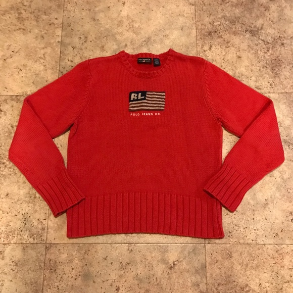 Lauren Co Rare Flag Knit Jeans Polo Ralph American mn08vNw