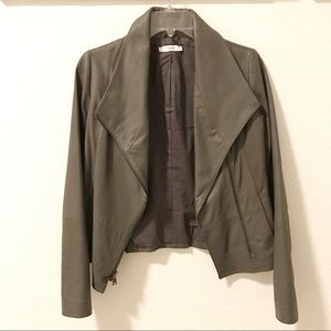 Vince Gray Scuba Leather Jacket