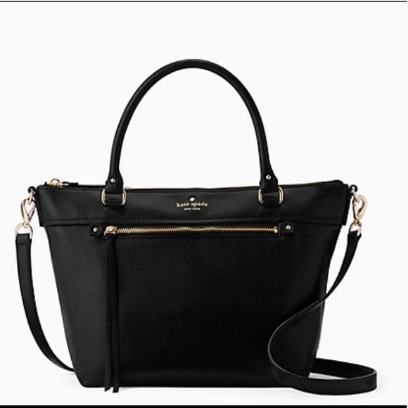 Cobble Hill Small Gina Black Leather Tote Shoulder. NWT. kate spade 86d557163c321