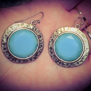Jewelry - ‼️SALE‼️ Faux Turquoise and Gold Sphere Earrings